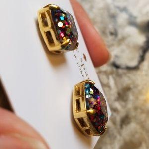 kate spade Jewelry - Kate Spade Glitter Stud Earrings